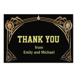 Art Deco Gatsby Style Thank You Crad Card
