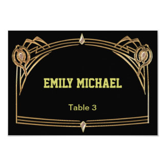 Art Deco Gatsby Style Wedding Place Card