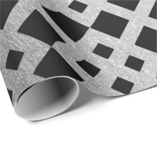 Art Deco Geometric Silver Square Ornament Vip Wrapping Paper