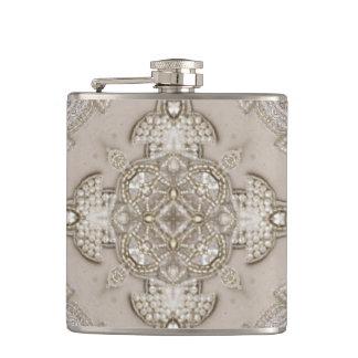 Art Deco Glamorous Great Gatsby Rhinestone Lace Hip Flask