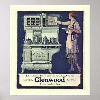 Art Deco Glenwood Stove Poster