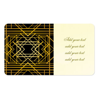 art deco,gold,black,vintage,retro,elegant,chic,tre business card