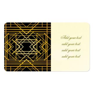 art deco,gold,black,vintage,retro,elegant,chic,tre business card