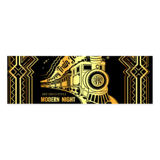 art deco,gold,black,vintage,retro,elegant,chic,tre mini business card