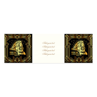 art deco,gold,black,vintage,retro,elegant,chic,tre mini business card