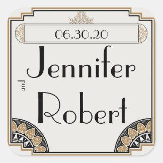 Art Deco Gold Posh Wedding Envelope Seal Stickers