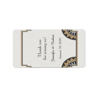 Art Deco Gold Posh Wedding Lip Balm Label