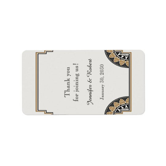 Art Deco Gold Posh Wedding Lip Balm Label