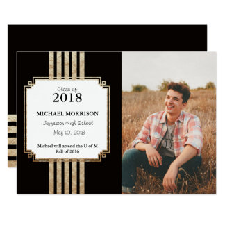 Art Deco Grad Card
