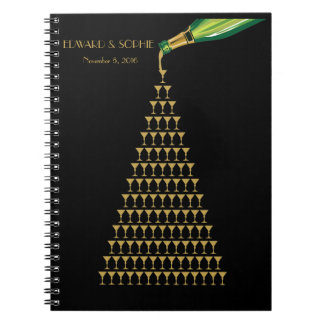 Art Deco Great Gatsby champagne Wedding guest book