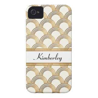Art Deco Great Gatsby Style Shell Faux Gold Case-Mate iPhone 4 Cases