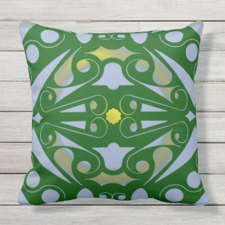 ART DECO GREEN  by Slipperywindow Outdoor Pillow