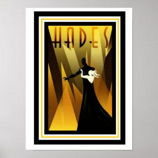 Art Deco Hades Poster 12 x 16
