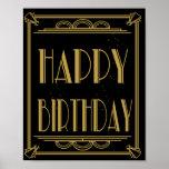 ART Deco Happy Birthday Print Roaring 20's Party