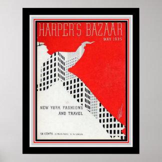 Art Deco Harper's Bazaar 1935 Print 16x20