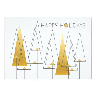Art Deco Holiday Trees Card