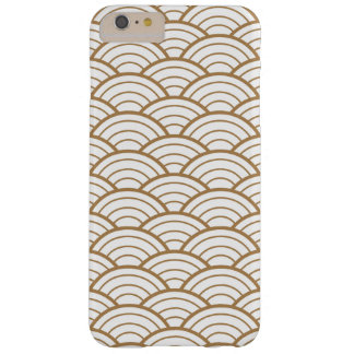 art deco,japanese fan pattern, gold,white,vintage, barely there iPhone 6 plus case