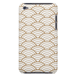 art deco,japanese fan pattern, gold,white,vintage, iPod Case-Mate cases