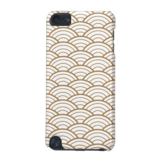 art deco,japanese fan pattern, gold,white,vintage, iPod touch 5G cover