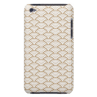 art deco,japanese fan pattern, gold,white,vintage, iPod touch cases