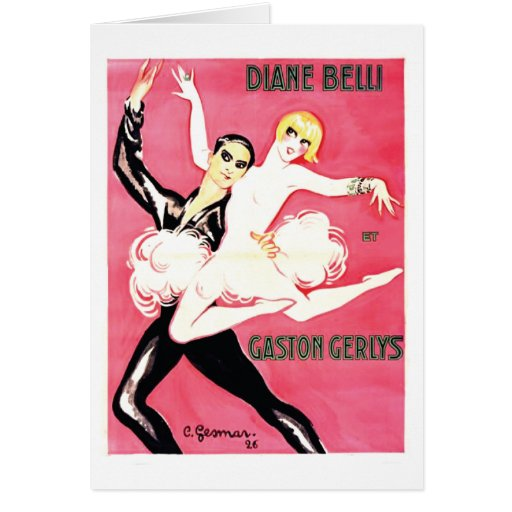 Art Deco Jazz Age Dance Couple Cards