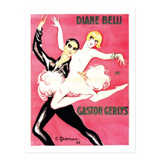 Art Deco Jazz Age Dance Couple Post Cards