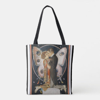 Art Deco Kissing Couple Tote