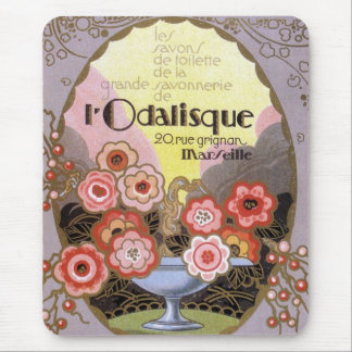 Art Deco l' Odalisque Perfume Label Mouse Pad