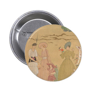 Art Deco Ladies – Playing with the girls in the ga 2 Inch Round Button