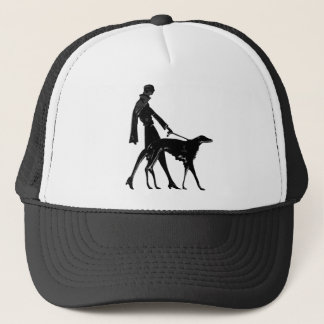 Art Deco Lady and Borzoi Trucker Hat