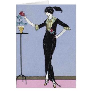 Art Deco Lady Card