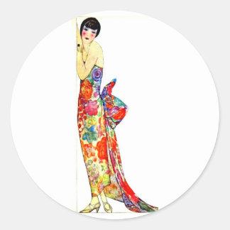 Art Deco Lady in formal Gown Sticker