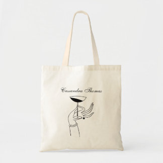 Art Deco Lady's Hand Holding Champagne Glass Tote Bag
