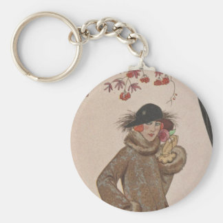 Art Deco Lady - Standing beside the tree. Key Chain