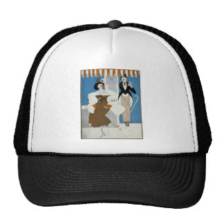 Art Deco Lady–Standing in front of producing corp. Trucker Hat