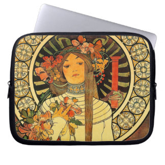 art deco laptop computer sleeves