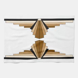 Art Deco Layers in Tan Kitchen Towel