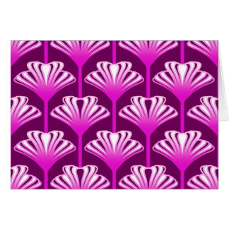 Art Deco Lily, Amethyst Purple and Orchid Card