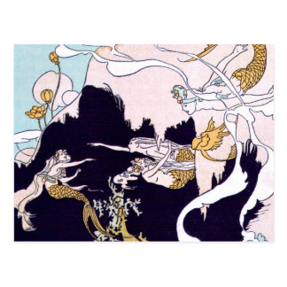 Art Deco Mermaids Postcards