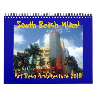 art deco miami 2016 wall calendars