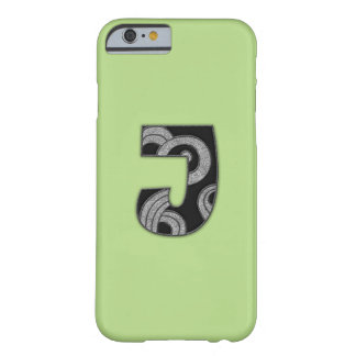 art deco monogram - J Barely There iPhone 6 Case