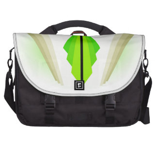 Art Deco Motif in Greens and Creams Laptop Bags