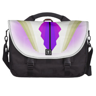 Art Deco Motif in Purples and Creams Bag For Laptop