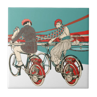 Art Deco Motorcycling Tile