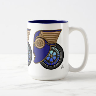 Art Deco Motorhead Two-Tone Coffee Mug