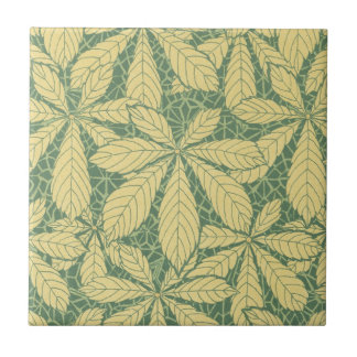 art deco nature leaves foliage pattern art ceramic tile
