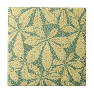 art deco nature leaves foliage pattern art tile