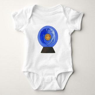 Art Deco Night & Day glass clock. Baby Bodysuit
