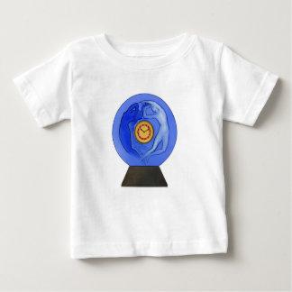 Art Deco Night & Day glass clock. Baby T-Shirt