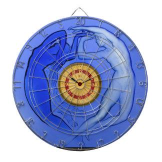 Art Deco Night & Day glass clock. Dartboard
